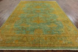 Art Deco Flooring 9 X 12 Art Deco Oriental Hand Knotted Area Rug