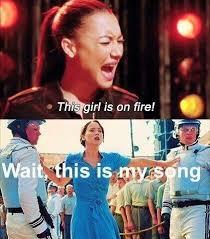 This Girl Is On Fire Meme - hahahaha katniss girl on fire music funny meme funny music