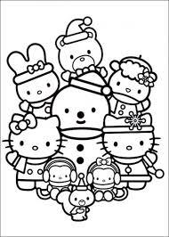 kitty christmas color kitty coloring christmas