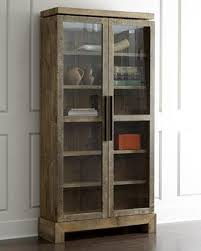 reclaimed wood curio cabinet brown cabinet