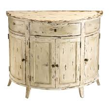furniture eye catching white distressed country style end table