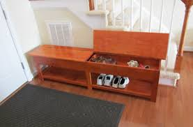 Entryway Table With Baskets Mudroom Storage Bench 36 Inches Wide Modern Shoe Storage