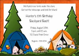 Backyard Birthday Party Invitations by 87 Best Camping Birthday Party Ideas Images On Pinterest Camping