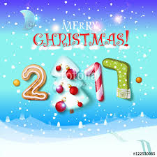 happy new year sign 2017 decoration poster card merry christmas