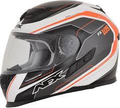 motorcycle helmets afx fx105 thunder chief full face motorcycle helmet orange grey