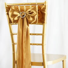 chair sashes 5pcs gold satin chair sashes tie bows catering wedding party