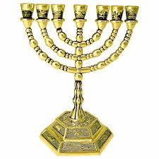 7 candle menorah 12 tribes of israel seven branch menorah