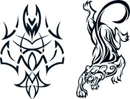 tribal tiger glow in the tattooforaweek temporary tattoos