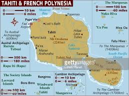 polynesia map of world map of tahiti and polynesia stock illustration getty images