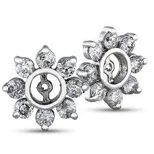 diamond earring jackets 1 7 8 carat diamond earring jackets in 10k gold