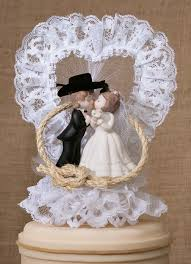 cowboy wedding cake toppers western lassoed cake top justcaketoppers