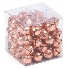 copper jingle bells box of 72 tree decorations