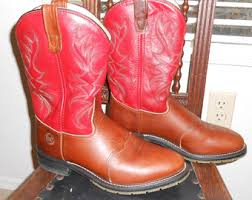 womens size 9 in mens boots mens size 9 ropers etsy