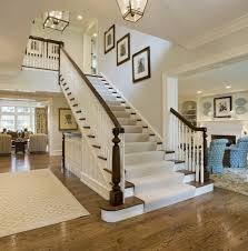 Up The Stairs Wall Decor Classic Chic Home Traditional White And Dark Wood Staircases