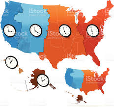 Alaska Usa Map by Usa Time Zone Map Stock Vector Art 150502670 Istock
