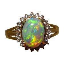 opal rings images Gem crystal opal diamond ring 14k gold flashopal jpg