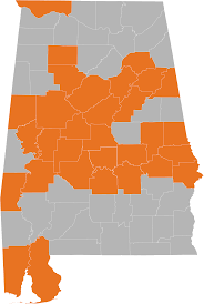 Map Alabama Map Of Natural Gas Service Areas By County Spire Inc