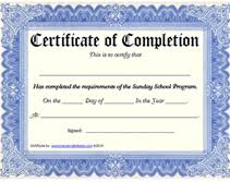examples of certificates of completion printable sunday program certificate of completion