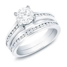 Circle Diamond Wedding Ring by 2 Carat Round Diamond Wedding Ring Set For Women In White Gold