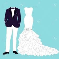 groom to card wedding card with the clothes of the and groom beautiful