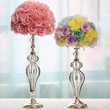 Vase Holders Tall Flower Vase Silver Tea Light Holders Silver Metal Vases