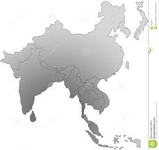 Blank East Asia Map by East Asia Black And White Map