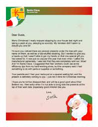 letters from santa claus from santa when present will be late