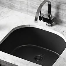 white sink black countertop kitchen sinks at the home depot