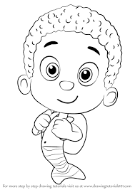 learn draw goby bubble guppies bubble guppies step