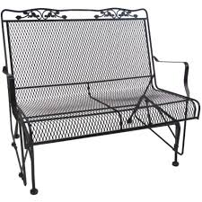 Wrought Iron Patio Furniture by Patio Furniture Black Wrought Iron Outdoor Gliders Chairs The Home