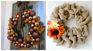 diy thanksgiving wreaths diy project
