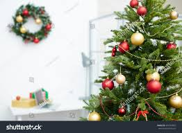 decorated tree office stock photo 345747833