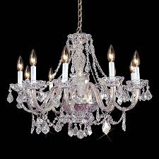Chrome Crystal Chandelier by Shop Weinstock Illuminations 28 In 10 Light Hand Polished Chrome