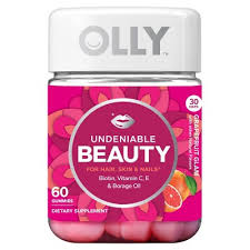 olly undeniable beauty grapefruit glam vitamin gummies 60ct target