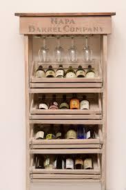 china cabinet napa vineyard crate wine rack and cabinet china