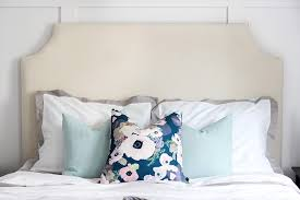 Diy Pillow Headboard Diy Upholstered Headboard With Nailhead Trim Just A Girl And Her