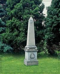 cleopatra collered obelisk garden ornament