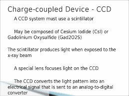 before an image is captured therefore ccds are considered an