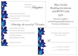 blue orchid wedding invitations u0026 rsvp cards melodie graphics