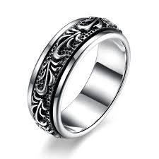 rings silver images Gomaya carving flower 925 sterling silver rings watch shop jpg