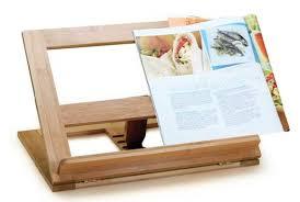 porte livre de cuisine support en bambou pour livre de recettes doyon cuisine
