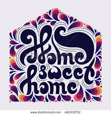 home sweet home decoration home sweet home quote doodle elements stock photo photo vector
