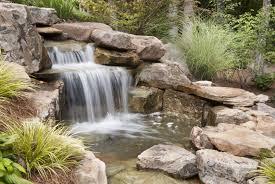 lawn u0026 garden great looking neutral stone waterfall for backyard