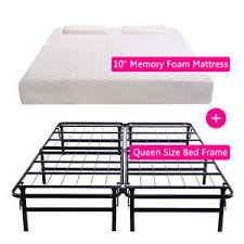Aluminum Bed Frame Size 10 Memory Foam Mattress Pad Aluminum Bed Frame With 2