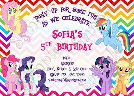 my little pony birthday card my little pony birthday invitation