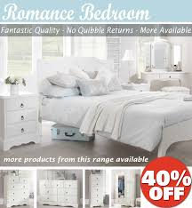 Toulouse White Bedroom Furniture White Bedroom Furniture Bedside Table Chest Of Drawers