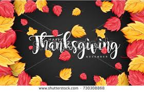 thanksgiving typography leaves on stock vector