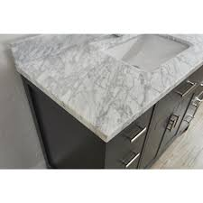Solid Surface Vanity Tops 48 Inch Bathroom Vanity Vanity In French Pepper Gray With Marble