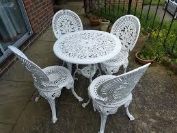 cast iron garden furniture white u2014 home designing