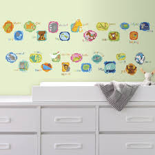 abc animals peel and stick wall decals abc animals wall decals